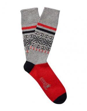 Короткие носки CORGI. Цвет: серый