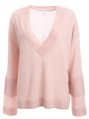 Пуловер из кашемира HUGO BOSS. Цвет: розовый