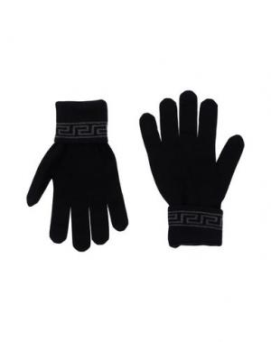 Перчатки VERSACE. Цвет: черный