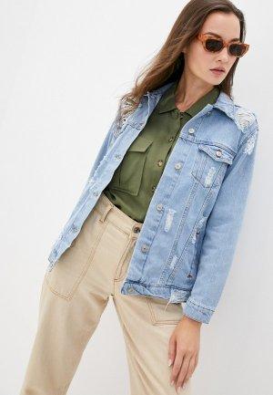 Куртка джинсовая Chic & Charisma OUTWEAR JEANS. Цвет: голубой