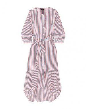 Платье длиной 3/4 J.CREW. Цвет: белый