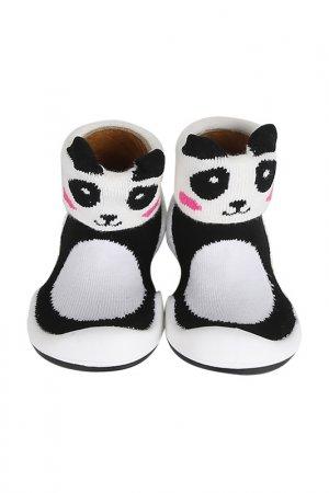 Носочки-ботиночки Komuello. Цвет: черный, белый