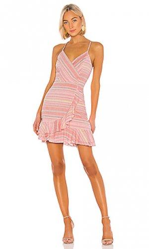 Мини платье jay Parker. Цвет: розовый