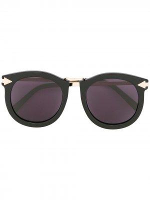 Солнцезащитные очки Super Lunar Karen Walker. Цвет: черный