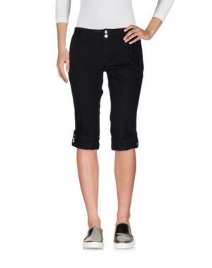 Джинсовые брюки-капри ICEBERG. Цвет: черный