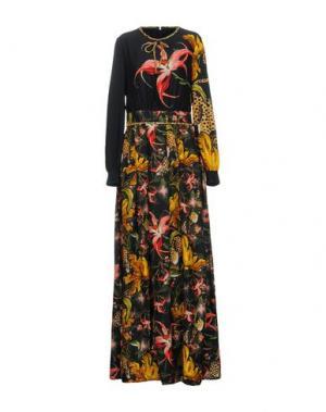 Длинное платье CAVALLI CLASS. Цвет: черный