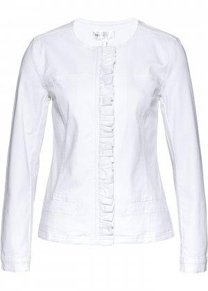 Куртка джинсовая bonprix. Цвет: белый