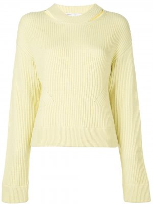 Пуловер крупной вязки в рубчик Proenza Schouler White Label. Цвет: желтый