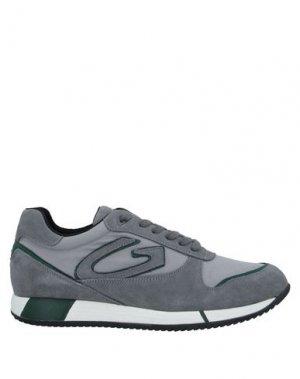 Кеды и кроссовки ALBERTO GUARDIANI. Цвет: серый