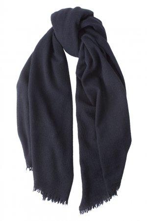 Однотонный шарф из шерсти и кашемира Bruuns Bazaar. Цвет: черный