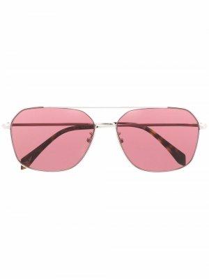 Солнцезащитные очки-авиаторы с заклепками Zadig&Voltaire. Цвет: серебристый