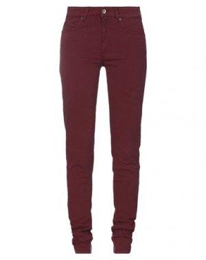 Повседневные брюки HENRY COTTON'S. Цвет: красно-коричневый