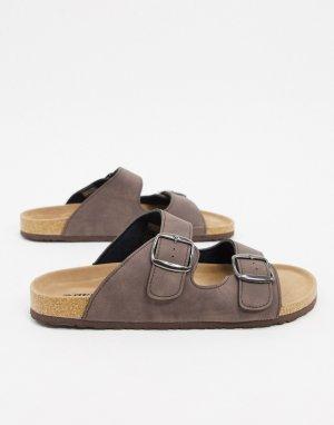 Коричневые сандалии с пряжками -Коричневый цвет Dunlop