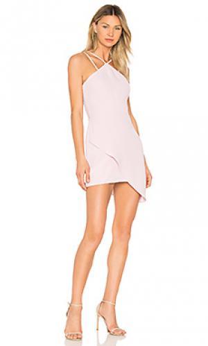 Коктейльное платье odean Amanda Uprichard. Цвет: rose
