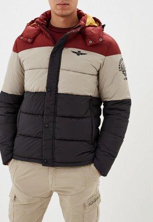 Куртка утепленная Aeronautica Militare. Цвет: разноцветный