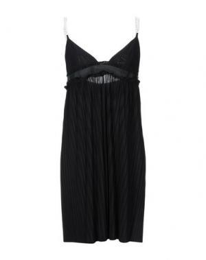 Короткое платье DANIELE ALESSANDRINI. Цвет: черный