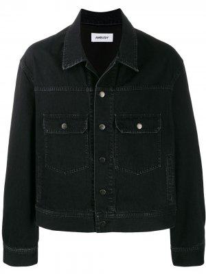 Джинсовая куртка оверсайз AMBUSH. Цвет: черный
