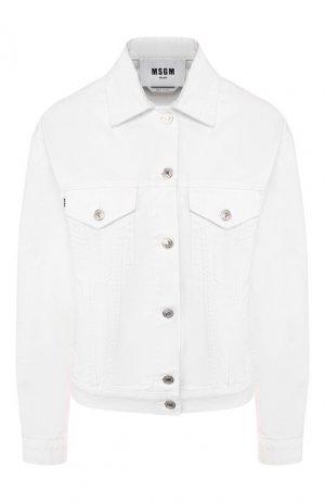 Джинсовая куртка MSGM. Цвет: белый