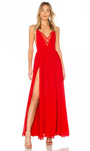 Вечернее платье justin Michael Costello. Цвет: красный