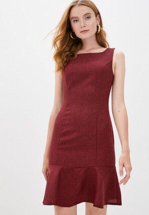 Платье Maurini. Цвет: бордовый