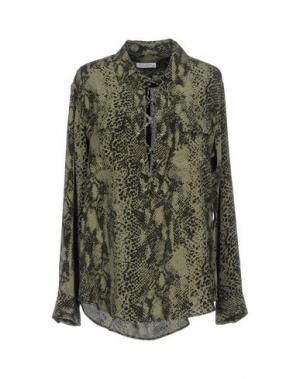 Блузка EQUIPMENT. Цвет: зеленый-милитари