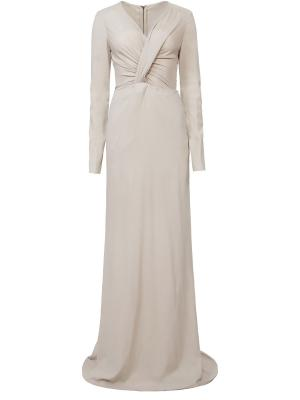 Вечернее платье с драпировкой Antonio Berardi. Цвет: белый