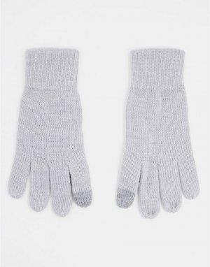 Светло-серые перчатки для сенсорных экранов -Серый Topman