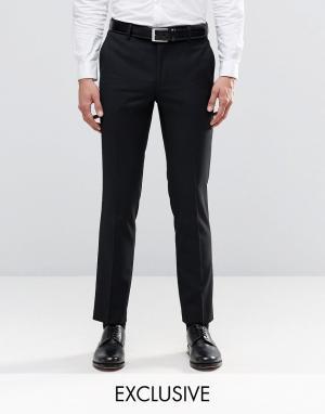Зауженные брюки под смокинг Farah. Цвет: темно-синий