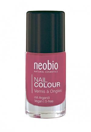 Лак для ногтей Neobio №03 5-FREE, с аргановым маслом. Чудесный коралл. Цвет: розовый