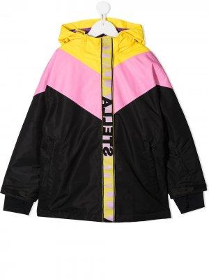 Лыжная куртка в стиле колор-блок Stella McCartney Kids. Цвет: черный