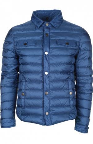 Стеганая пуховая куртка [C]Studio. Цвет: синий