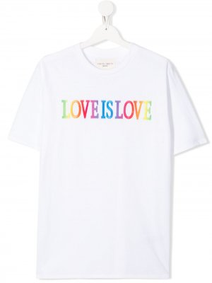 Футболка Love Is Alberta Ferretti Kids. Цвет: белый
