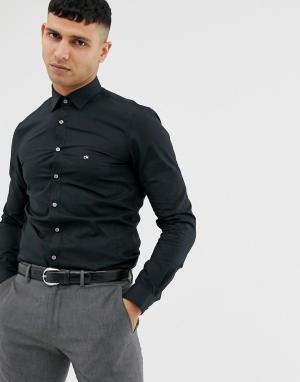 Черная приталенная рубашка эксклюзивно для ASOS-Черный цвет Calvin Klein