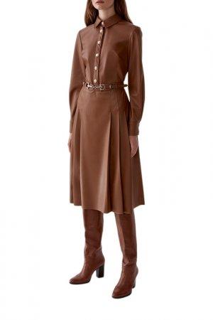 Платье LUSIO. Цвет: светло-коричневый