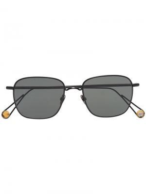 Солнцезащитные очки Place Blanche с позолотой Ahlem. Цвет: черный