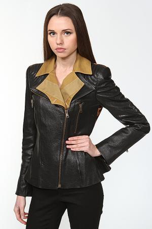 Куртка кожаная Alexander McQueen. Цвет: черный