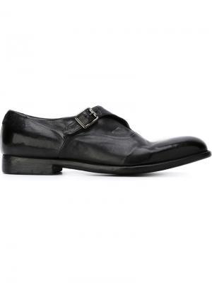 Туфли с ремешком на пряжке Alberto Fasciani. Цвет: черный