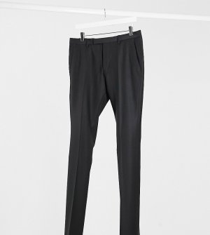 Черные брюки под смокинг TALL-Черный цвет Twisted Tailor