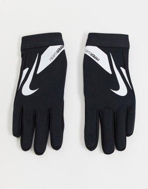 Черные перчатки -Черный цвет Nike Football