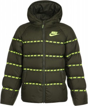 Пуховик для мальчиков Sportswear, размер 158-170 Nike. Цвет: зеленый