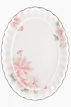 Блюдо овальное 37 см Nikko. Цвет: розовый