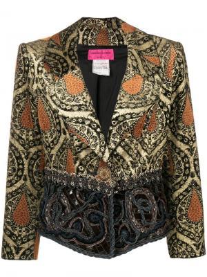 Облегающая куртка Christian Lacroix Pre-Owned. Цвет: коричневый