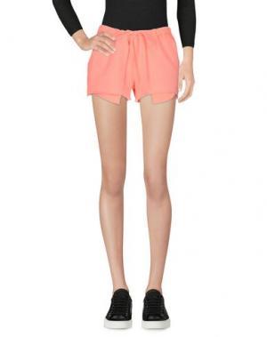 Повседневные шорты CLU. Цвет: лососево-розовый