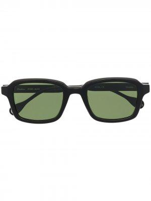 Солнцезащитные очки Studio Etudes. Цвет: черный