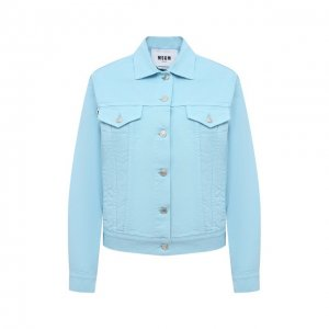 Джинсовая куртка MSGM. Цвет: синий