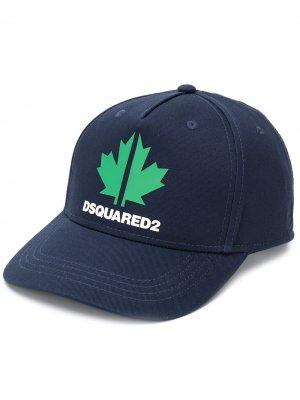 Бейсболка с логотипом Dsquared2 Kids. Цвет: синий