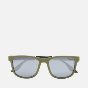 Солнцезащитные очки 04XS-03S0D3-3N Prada Linea Rossa. Цвет: оливковый