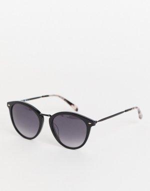 Солнцезащитные очки с черными стеклами 2092/G/S-Черный цвет Fossil