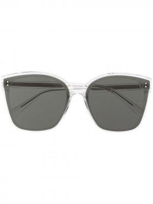 Солнцезащитные очки в прозрачной оправе Gentle Monster. Цвет: белый