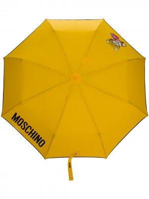 Зонт с логотипом Moschino. Цвет: желтый